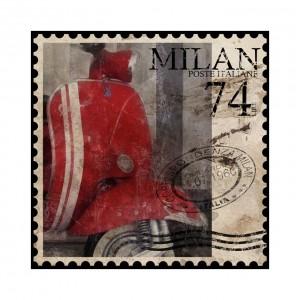 Canvasdoek Milan74 70x70